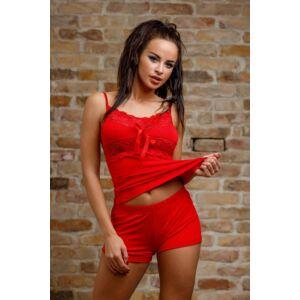 Csipkés rövid pizsama piros