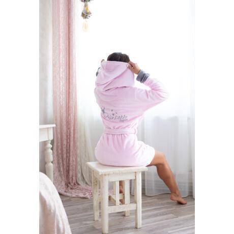 Princess köntös rózsaszín dupla kapucnival
